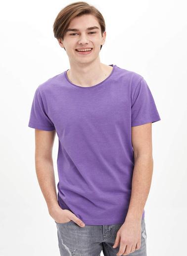 DeFacto Basic Slim Fit T-Shirt Mor